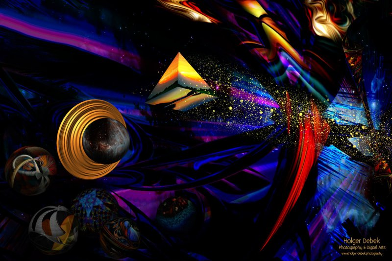 Digital Art - Biospheren Pyramid