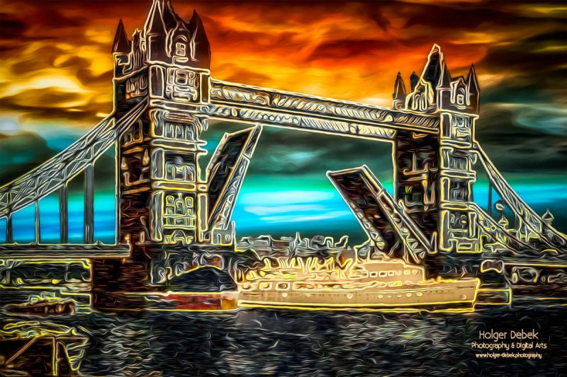 Digital Art - London Bridge
