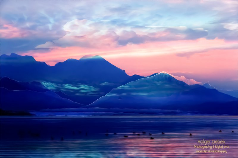 Digital Art - Landscape Chiemsee