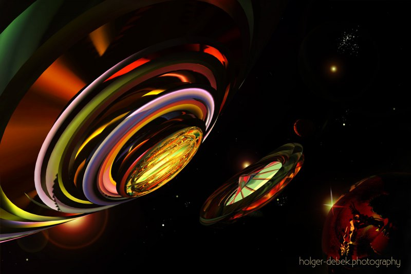 Digital Art - Major Tom interstellar memorial station